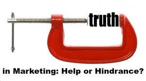 """The word """"truth"""" is compressed with a vice."""